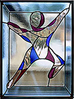 graphic of finished stained glass window